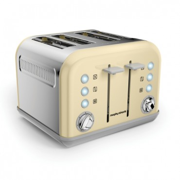 MORPHY Accents 4 Slice EPP Toaster Cream