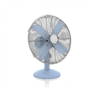 Swan Retro 12 Inch Desk Fan - Blue