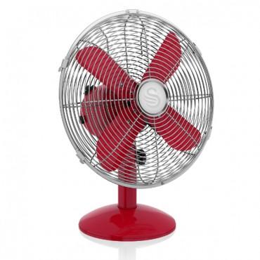 Swan Retro 12 Inch Desk Fan - Red