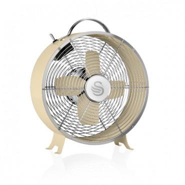 Swan Retro 8 Inch Clock Fan - Cream