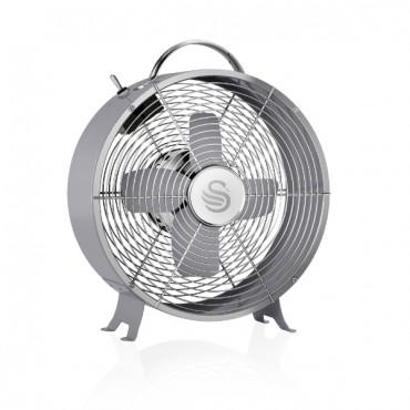 Swan Retro 8 Inch Clock Fan - Grey