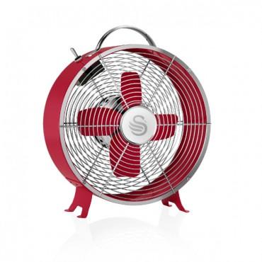 Swan Retro 8 Inch Clock Fan - Red