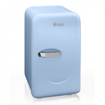 Swan Retro Mini Fridge Blue