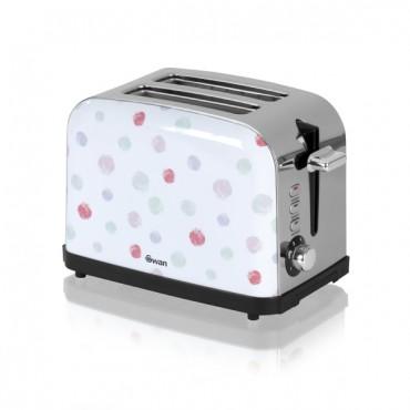 SWAN Polka Dot 2 Slice Toaster