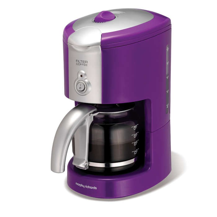 Morphy Richards Purple filter coffee maker - Tea / Coffee / Hot Beverage - Small Domestic ...