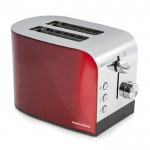 Accents 2 slice polished toaster red