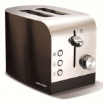 Accents 2 slice polished toaster black