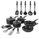Equip 5 Piece Pan Set with 9 Piece Tool Set