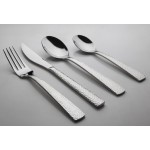 Morphy 24 Piece Hammered Cutlery Set S/Steel