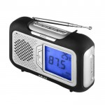 Portable am/fm radio with large lcd