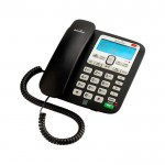 Corded telephone with answer machine
