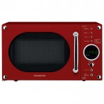 20 litre touch control microwave - red