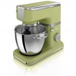 Retro stand mixer with bowl - green