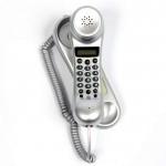 Wall mountable phone with lcd display