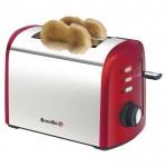 2 slice brushed red toaster