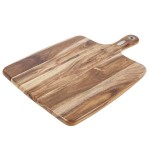 NATURAL LIFE Acacia Wood Cutting Board with Handle