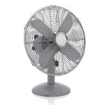 Swan Retro 12 Inch Desk Fan - Grey