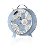 Swan Retro 8 Inch Clock Fan - Blue