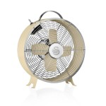 Swan Retro 8 Inch Clock Fan - Cream