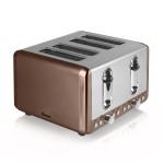 SWAN 4 Slice Copper Toaster