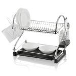 Swan 2 Tier S Shape Dish Rack Chrome