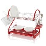 Swan 2 Tier S Shape Dish Rack Red