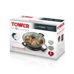 TOWER 30cm Ceramic Coated Colour Changing Electric Wok