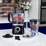 TOWER 1.5L Food Processor Black