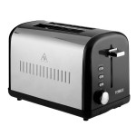 TOWER 2 Slice Stainless Steel Toaster