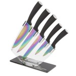 5 Piece Knife Set with Acrylic Stand