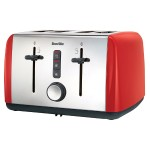 4-Slice Toaster Red